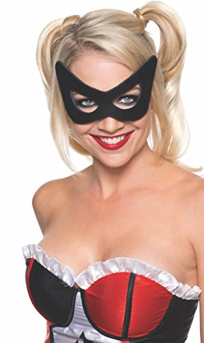 Rubie's Costume Co Women's DC Superheroes Harley Quinn Mask, Multi, One Size (Harly Quin Costume)