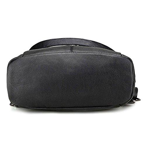 Black Backpack Shoulder Crossbody Black Shoulder Travel Bag Kofun Bag Multifunctional Bookbags Bag Mummy 7wqdd