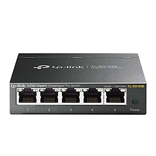 TP-Link 5 Port Gigabit Switch | Easy Smart Managed | Plug & Play | Limited Lifetime Protection | Desktop/Wall-Mount | Sturdy Metal w/ Shielded Ports | Support QoS, Vlan, IGMP and Link Aggregation (TL-SG105E)
