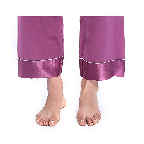 Lilysilk Conjunto De Pijamas De Seda Para Mujer 3 Piezas 100% Seda De Mora De 22 Momme Violeta