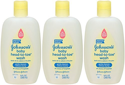 Johnson's Head-to-Toe Baby Wash - Fragrance Free - 9 oz (Pack of 3) by Johnson's