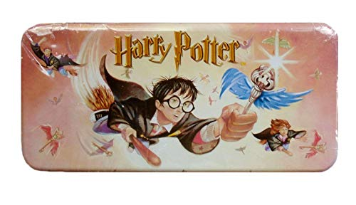 (Harry Potter 'Winged Keys' Metal Pencil Case w/Removable Tray)