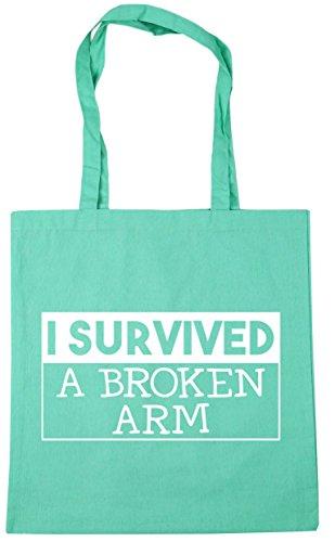 Gym survived Bag HippoWarehouse Mint arm 42cm I broken litres Beach a 10 Shopping Tote x38cm 55zr0xw