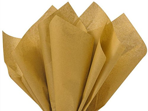 Golden Wrap (Antique Gold Bulk Tissue Paper 15 Inch x 20 Inch - 100 Sheets)