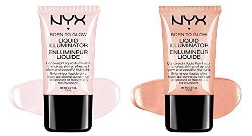 """2 NYX Born To Glow Liquid illuminator Full Set """"LI 01 & LI 02"""" by NYX"""