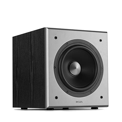 Edifier T5 Powered Subwoofer - 70w RMS Active Woofer with 8 inch Driver and Low Pass Filter