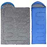 Besde Sport Sleeping Bag, Lightweight Portable, Waterproof, Comfort with Compression Sack - Great for Traveling, Camping, Outdoor Activities (Blue)