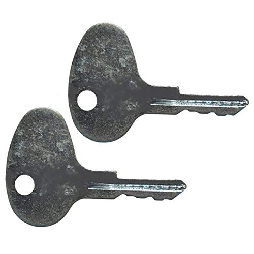 (Pack of 2) - 123243 Ignition Keys, Compatible with Caterpillar Cat CAT Forklift Models