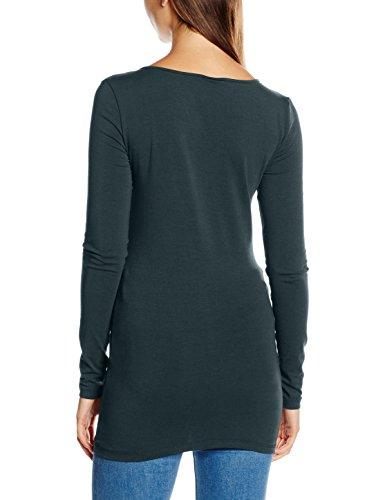 Vero Moda Vmmaxi My Ls Soft Long U-Neck Noos, Camisa para Mujer Verde (Green Gables Green Gables)