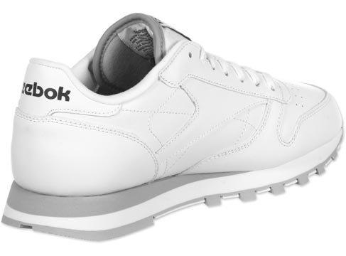 Reebok Classic Leather - Zapatillas de Cuero Para Hombre Blanco (white/lt grey)