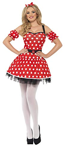 Smiffys Women's Madame Mouse Costume, Dress, Arm Cuffs and Headband, Wings and Wishes, Serious Fun, Size 6-8, 29609