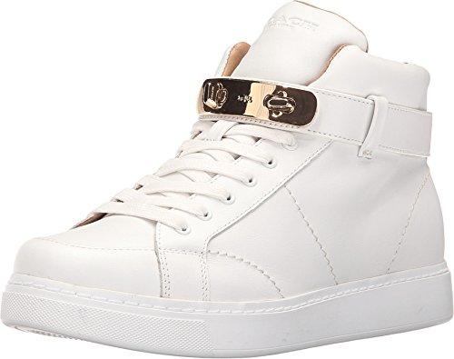 COACH Women's Richmond High Top Fashion Sneaker,White,9.5 M US