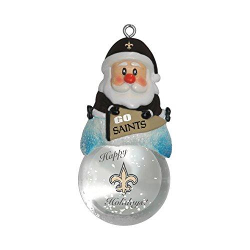 NFL New Orleans Saints Snow Globe Ornament, Silver, 1.5