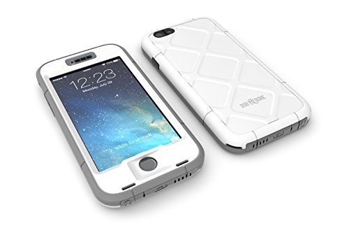 Dog and Bone Wetsuit Waterproof Slim Rugged Case for Iphone 6 Plus 5.5 Inch - (Silver)