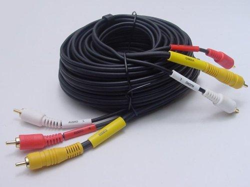 Calrad 55-862B-6 Video Dubbing Cable w- Molded Gold RCA Male Plugs 6'