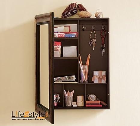 Buy Lifeestyle Wooden Bathroom Mirror Medical Box Online At Low