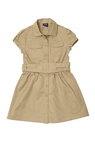French Toast Canvas Safari Shirtdress Girls Khaki 12 (Zookeeper Costume)