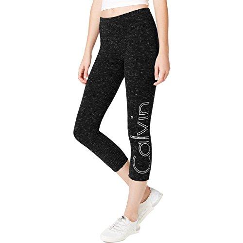 Calvin Klein Women's Performance Outline Logo Cropped Leggings