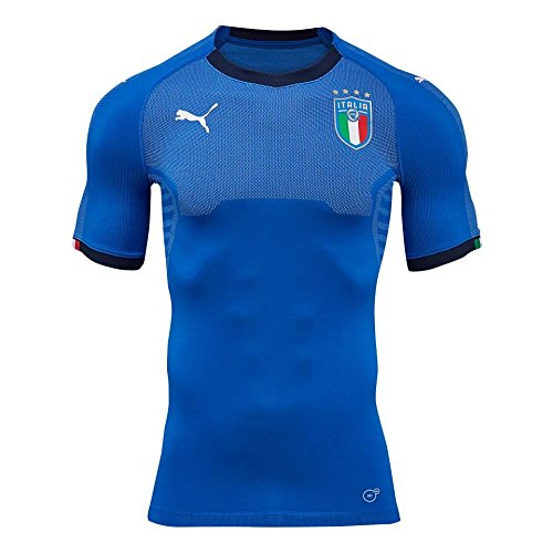 PUMA 2018-2019 Italy Evoknit Authentic Home Football Soccer T-Shirt Jersey (with Packaging)