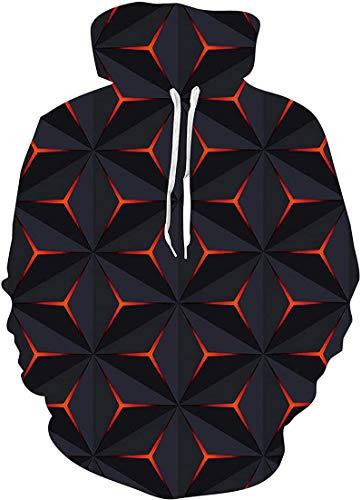 FLYCHEN Men's 3D Hoodie Pullover Print Pattern Fashion Sweatshirt Sportswear
