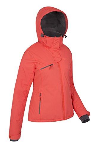 Mountain Warehouse Freezestyle Womens Ski Jacket Waterproof Zip Pockets Hood
