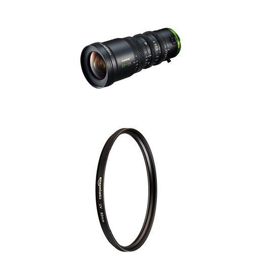 FUJINON Cine Lens MK50-135mm T2.9, Black with AmazonBasics UV Protection Lens Filter - 82 mm by Fujinon