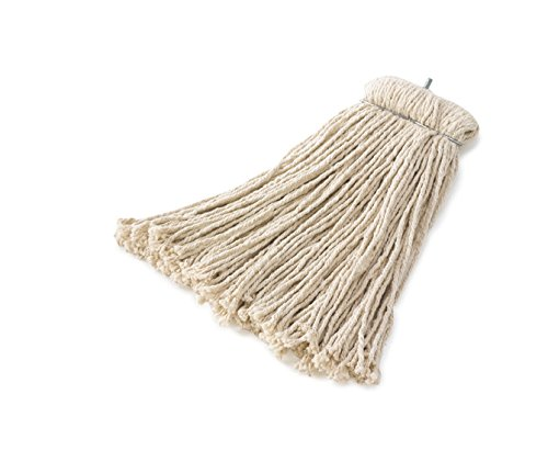 Rubbermaid Commercial Products FGF16800WH00 Premium Bolt-On Cut-End Cotton Mop, 24 oz (Pack of 12)