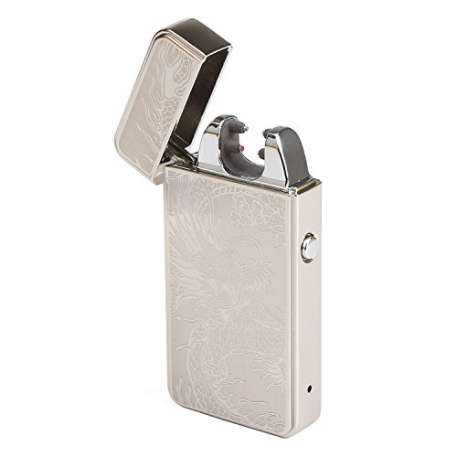 DROK-Rechargeable-Lighter-Silver