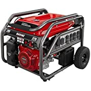 Black Max 7,000 Watt Portable Gas Generator with Electric Start Powered by Honda