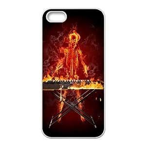 Iphone 5,5S Skeleton Phone Back Case Custom Art Print Design Hard Shell Protection HG032756