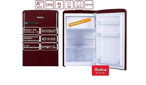 Amica KS15611R nevera y congelador Independiente Rojo A++ ...