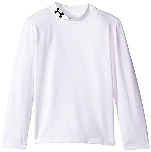 Price comparison product image Under Armour Little Boys' Fitted Mock Neck, White, 7
