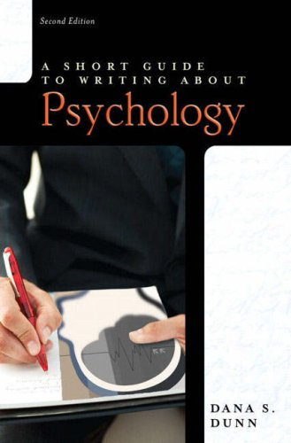 Short Guide to Writing about Psychology (2nd Edition)