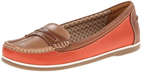 Naturalizer Mujeres Hamilton Boat Shoe Coral / Tan