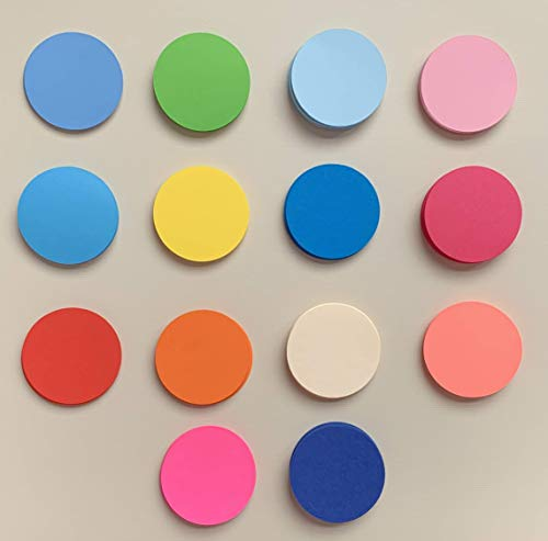 Circle cut out paper, Scrapbooking paper, Paper Circles, Round Cut Outs, Die cut circles, Cardstock Circles, Paper Cut Outs, Note card from Craftish Design