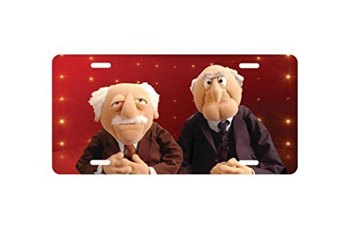 panda Statler and Waldorf Hecklers Muppets License Plate license frame custom Metal License Plate for Car Novelty license plate 12 inch X 6 inch by Panda plate
