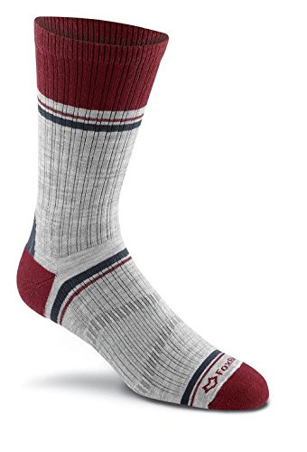 (Fox River Peak Series Ridgeline Merino Wool Socks, RED, Medium)