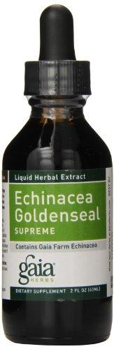 Gaia Herbs Echinacea Goldenseal Supreme, Liquid Supplement, 2 Ounce – Immune Support Healthy Inflammatory Response During Seasonal Stress, Organic Echinacea