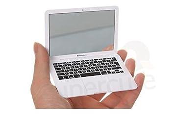 easygoal - Espejo de mano, diseño de ordenador portátil Apple MacBook Air, color blanco y plateado: Amazon.es: Juguetes y juegos