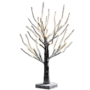 Lightshare 4' Lighted Snow Tree 10