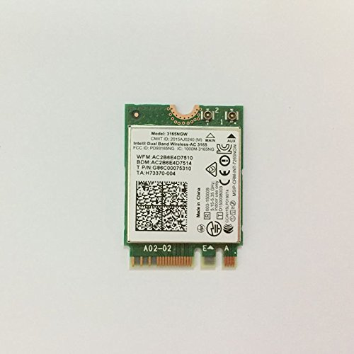 Dual Band Wireless-AC 3165 NGFF M2 Use For Intel AC 3165NGW 802.11ac 2x2 Wi-Fi + Bluetooth 4.0 by PJCARD