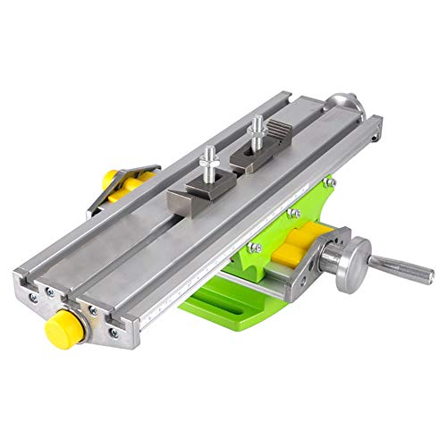 Mini Milling Machine Work Table Vise Portable Compound Bench X-Y 2 Axis Adjustive Cross Slide Table , for Bench Drill Press 13 inches-3.74