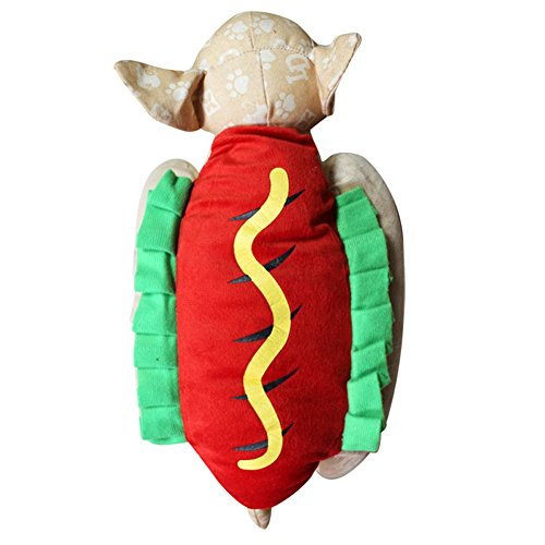 Adarl Pet Halloween&Christmas Costumes Hot Dog Clothes Apparel Set for Puppy Dog Cat S