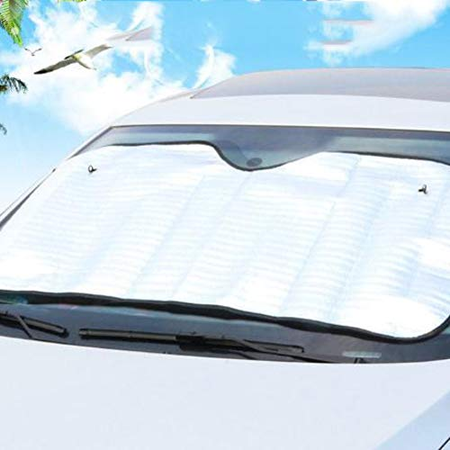 isolante laonBonnie in alluminio Parasole unilaterale per parabrezza auto colore: argento