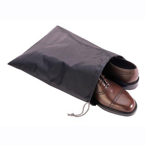 Satz von 6 praktischen staubdichten Schuhtasche mit Kordelzug - schwarz