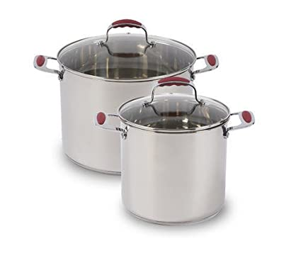 David Burke 8QT / 12QT Stainless Steel Stock Pots
