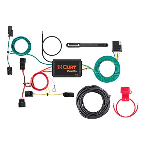 CURT 56395 Vehicle-Side Custom 4-Pin Trailer Wiring Harness for for Select Honda - Curt T-connector Wiring