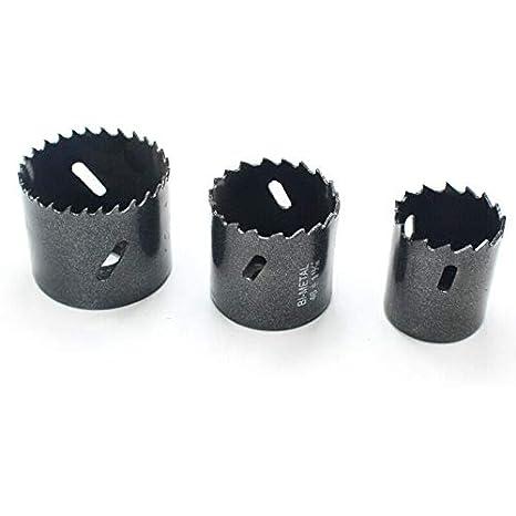 M42 HSS agujero sierra 38-114 mm bimetal agujero sierra abridor broca perforadora herramienta de corte para madera aluminio hoja de hierro tubo pl/ástico negro TOOLSTAR sierra perforadora bimetal