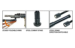 UTG New Gen High-pro Shooters Bipod, Rubber Feet, 8.7\