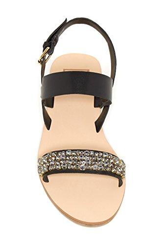 Dolce Vita Vysta Embellished black Sandals womens l8yWliXtt